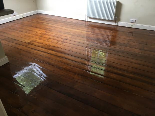 Victorian Pine Floorboards Restoration - Holly Terrace York After