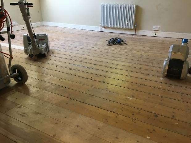 Victorian Pine Floorboards Restoration - Holly Terrace York Before