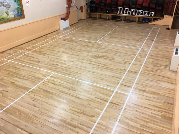 Badminton Court Restoration  Kirbymoorside Town Hall After