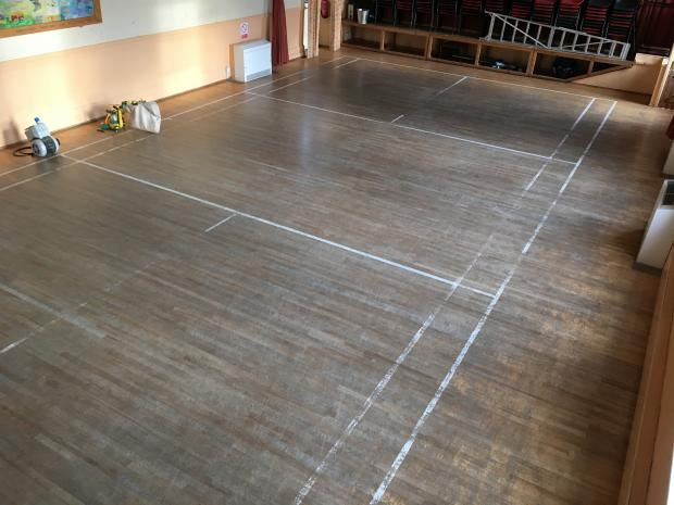 Badminton Court Restoration  Kirbymoorside Town Hall Before