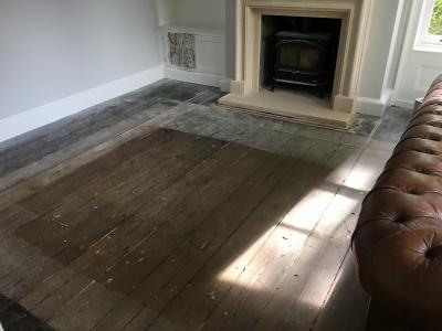Slate Grey on Pine